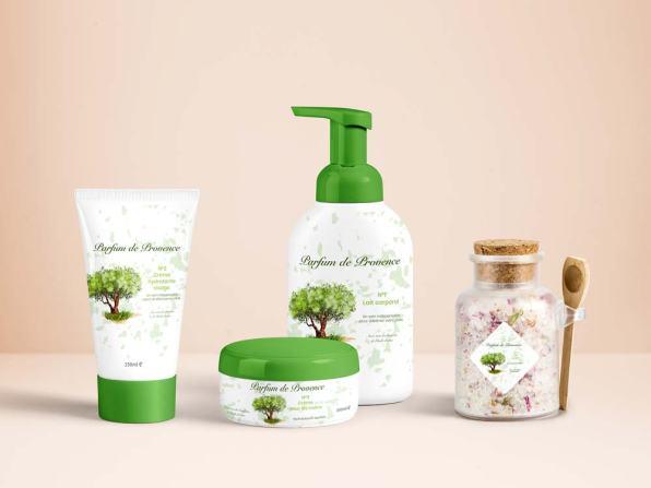 illustration packaging produits cosmétiques