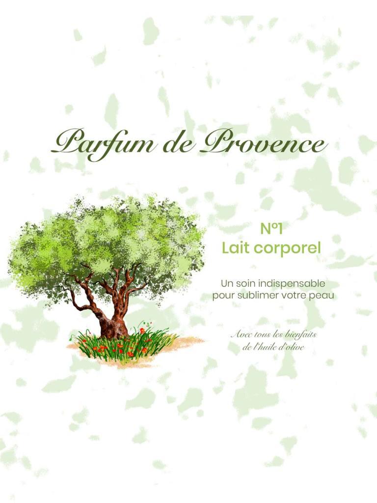 """illustration pour un packaging marque fictive """"Parfum de Provence"""""""