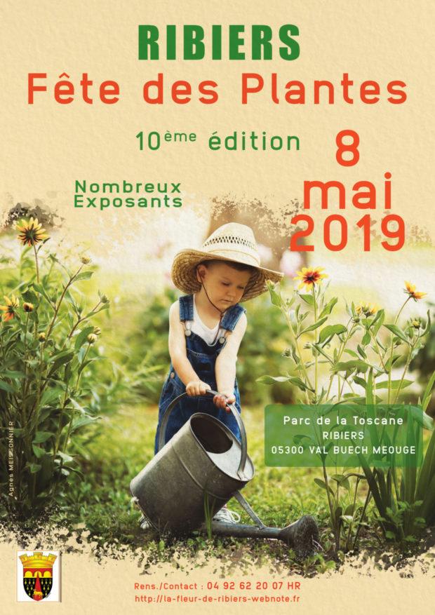 Affiche réalisée pour la fête des plantes qui aura lieu au mois de mai prochain à RIBIERS