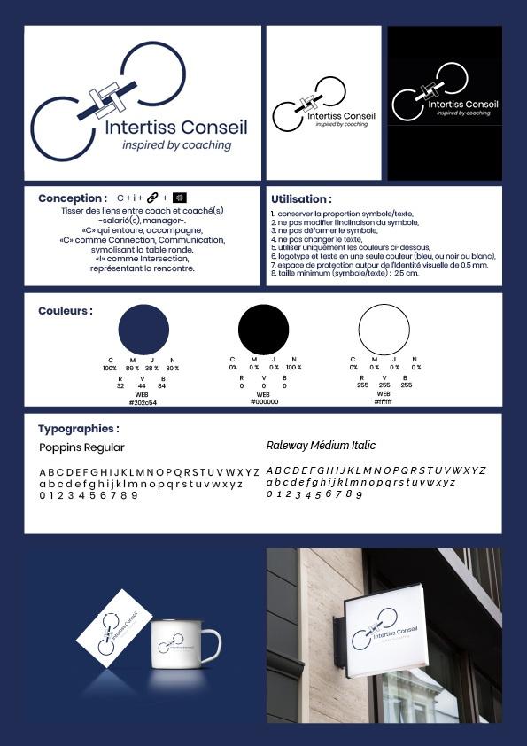 charte graphique de l'identité visuelle d'INTERTISS CONSEIL