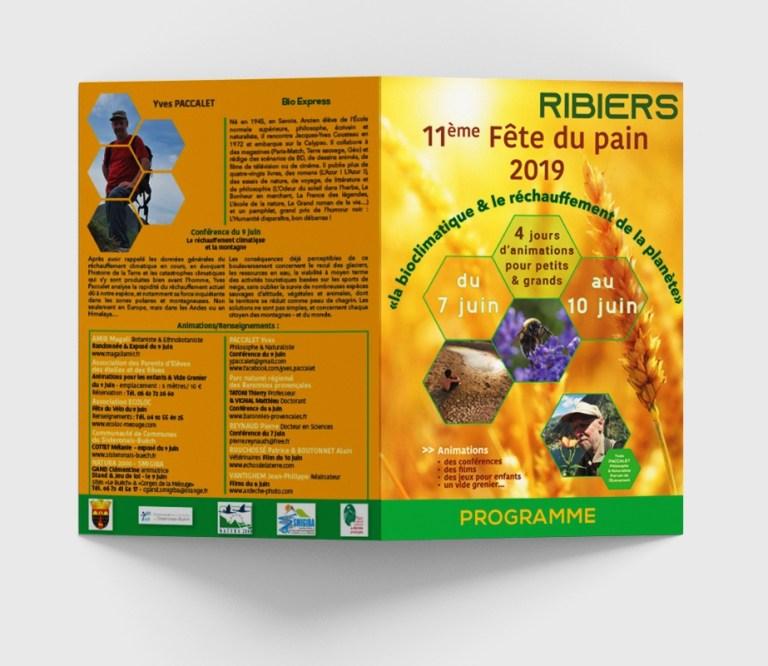 Réalisation d'un programme pour la Mairie de RIBIERS à l'occasion de la Fête du 7 juin au 10 juin 2019