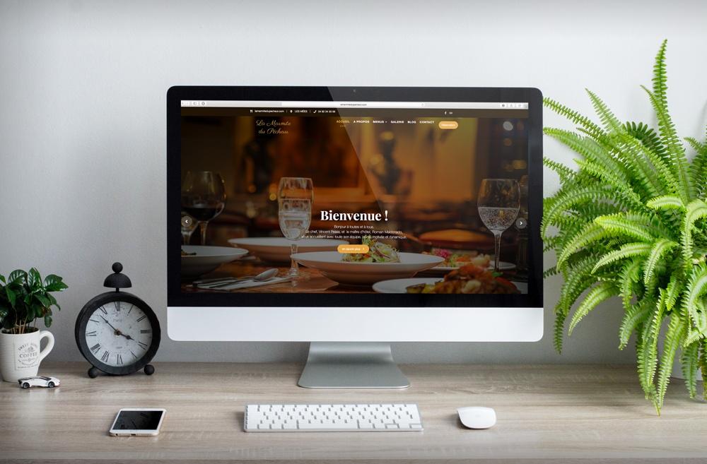 site réalisé pour La Marmite du Pêcheur Restaurant traditionnel aux Mées