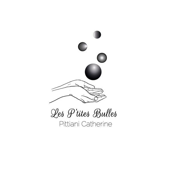 identité visuelle Les P'Tites Bulles, en noir, entreprise d'une esthéticienne