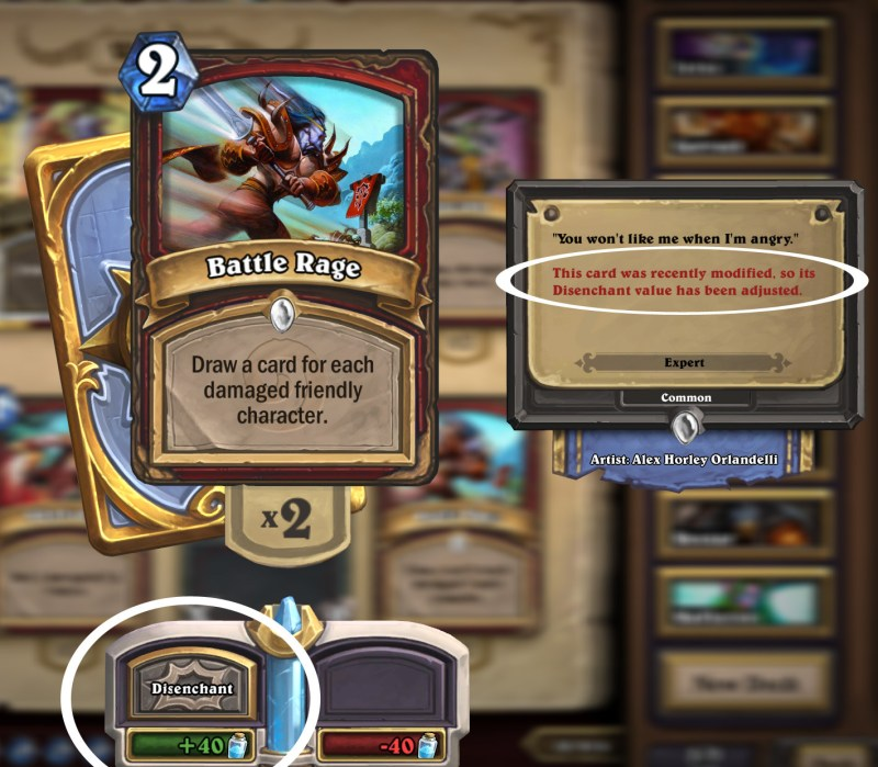 Easiest and Best ways to collect dust in Hearthstone, Disenchanting Cards