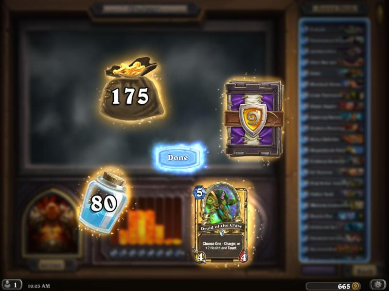 Easiest and Best ways to collect dust in Hearthstone arena play 2