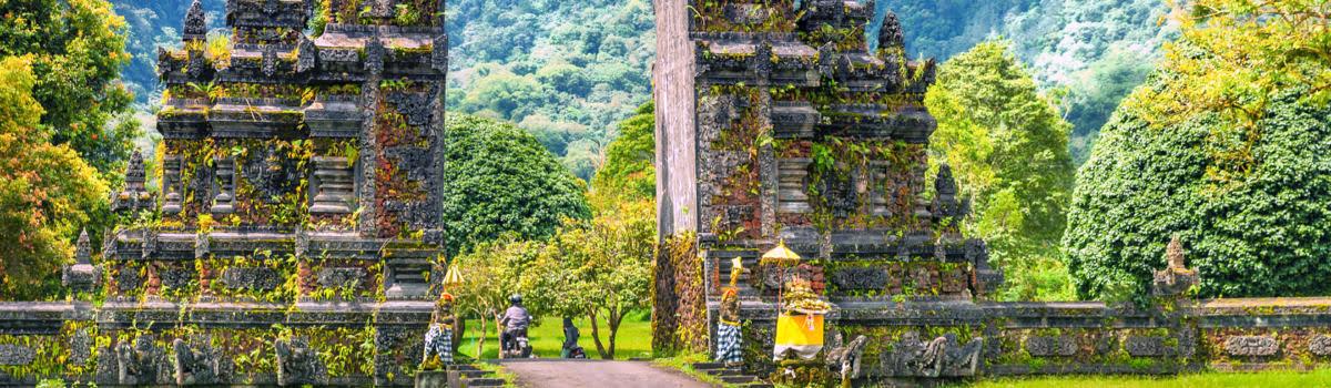 Ancient stone gateway in Bali