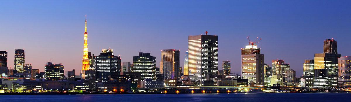 Night view of Tokyo skyline