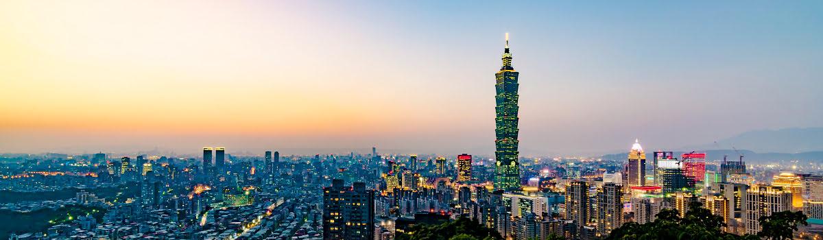 Skyline view of Taipei 101 in Taipei, Taiwan