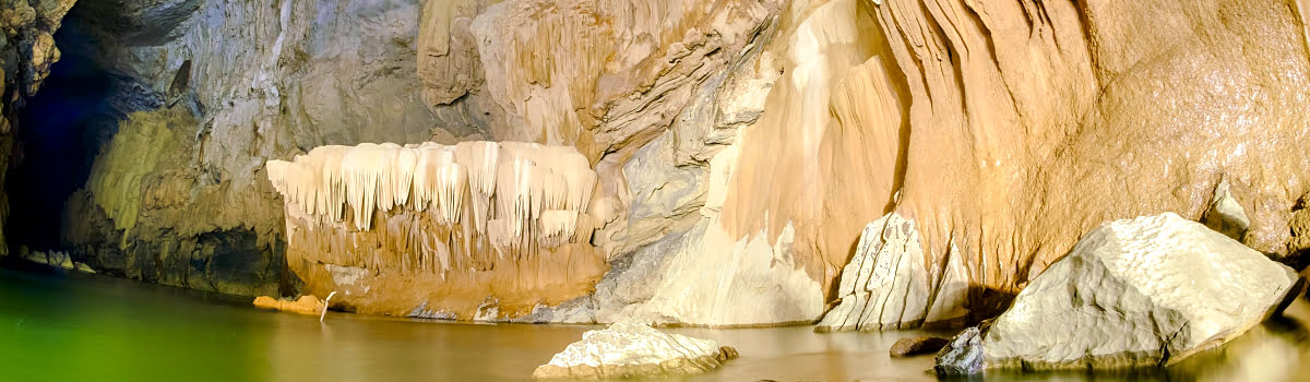 Caving vacations-South East Asia cave tour-Featured photo-Xe Bang Fai river tunnel