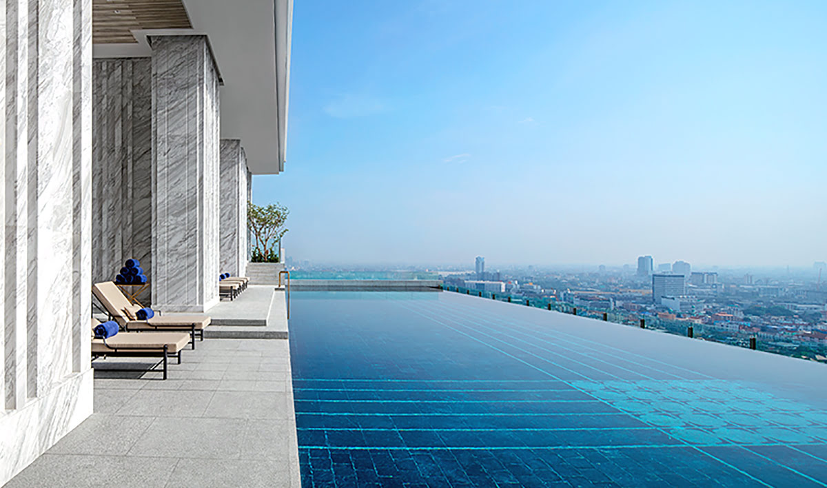 Hotels with infinity pools-rooftop swimming-137 Pillars Suites & Residences Bangkok