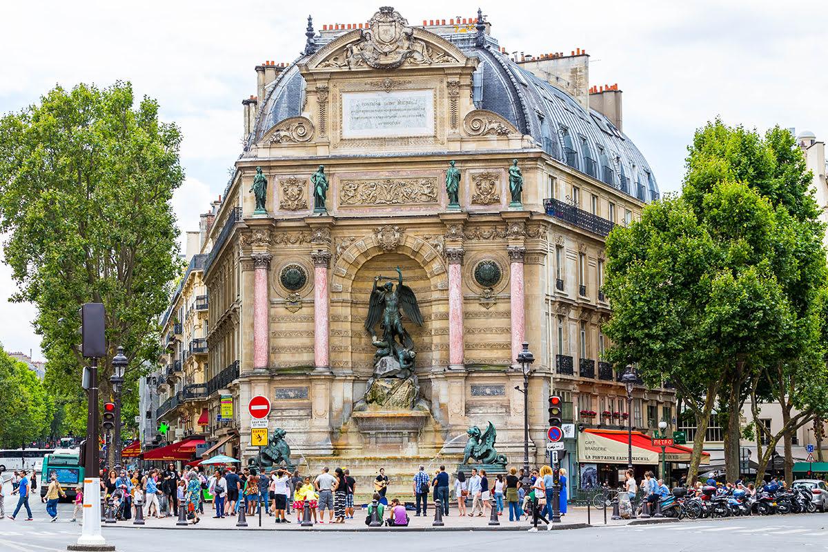 Latin Quarter-Paris-Place Saint-Michel