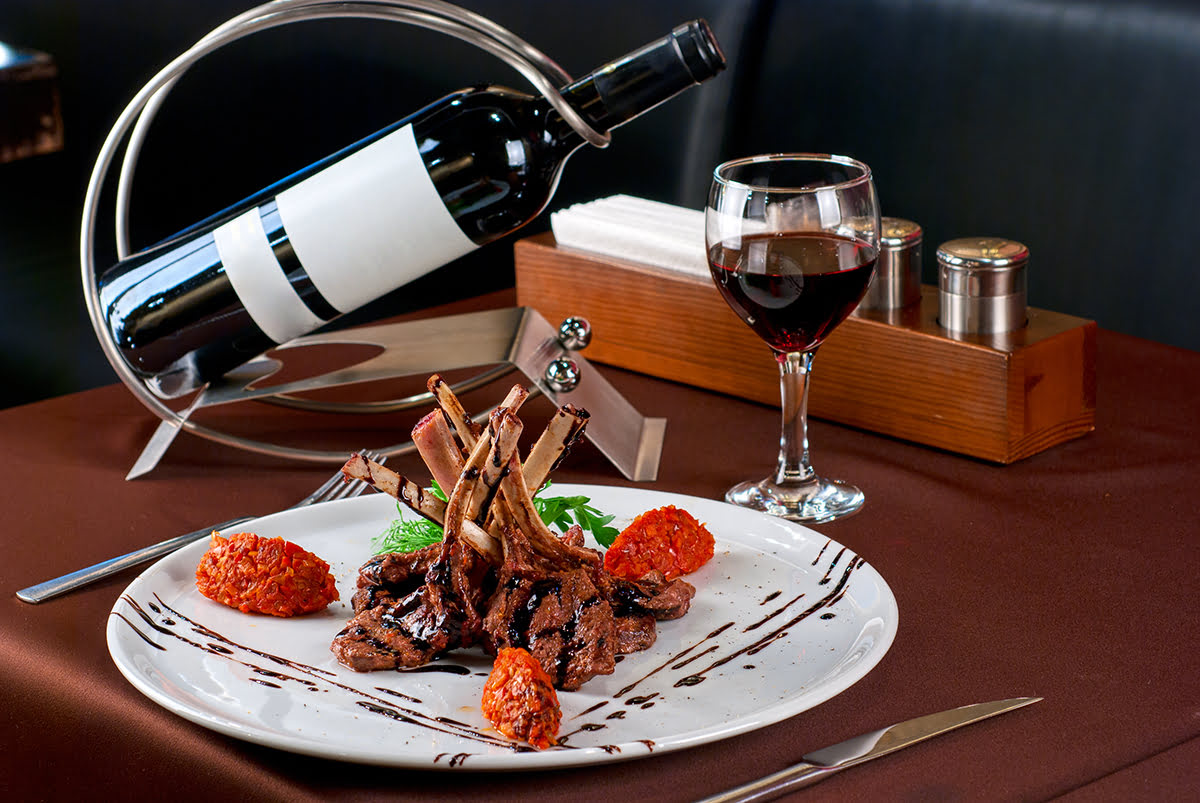 Paris food-French cuisine with wine