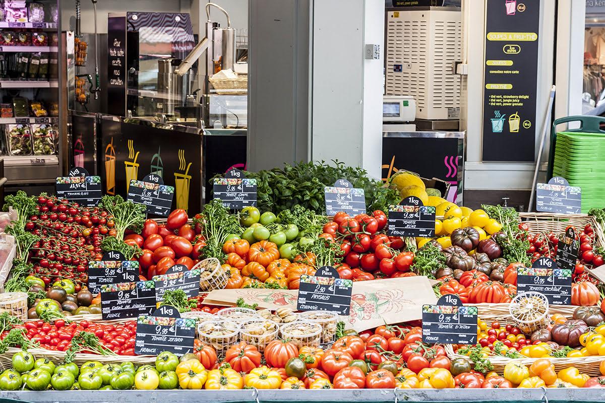 Paris markets-shopping-flea markets-France-Paris market food