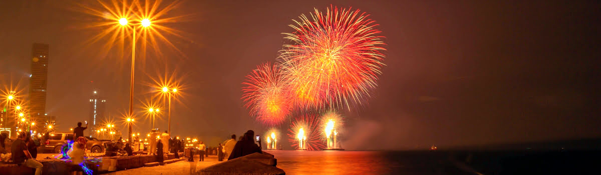 Jeddah fireworks