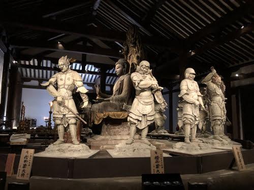 Nara temples-Shin Yakushiji Temple-deities
