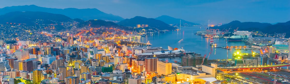 Things to do in Nagasaki-Featured photo (1200x350) Nagasaki skylineport (day or night)