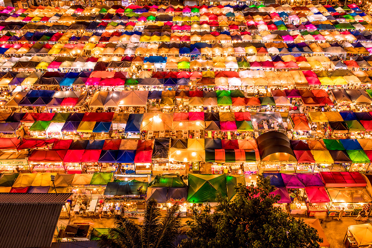 Bangkok vacation rentals-holiday homes-Thailand-Train Night Market Srinakarin-Talad Rod Fai