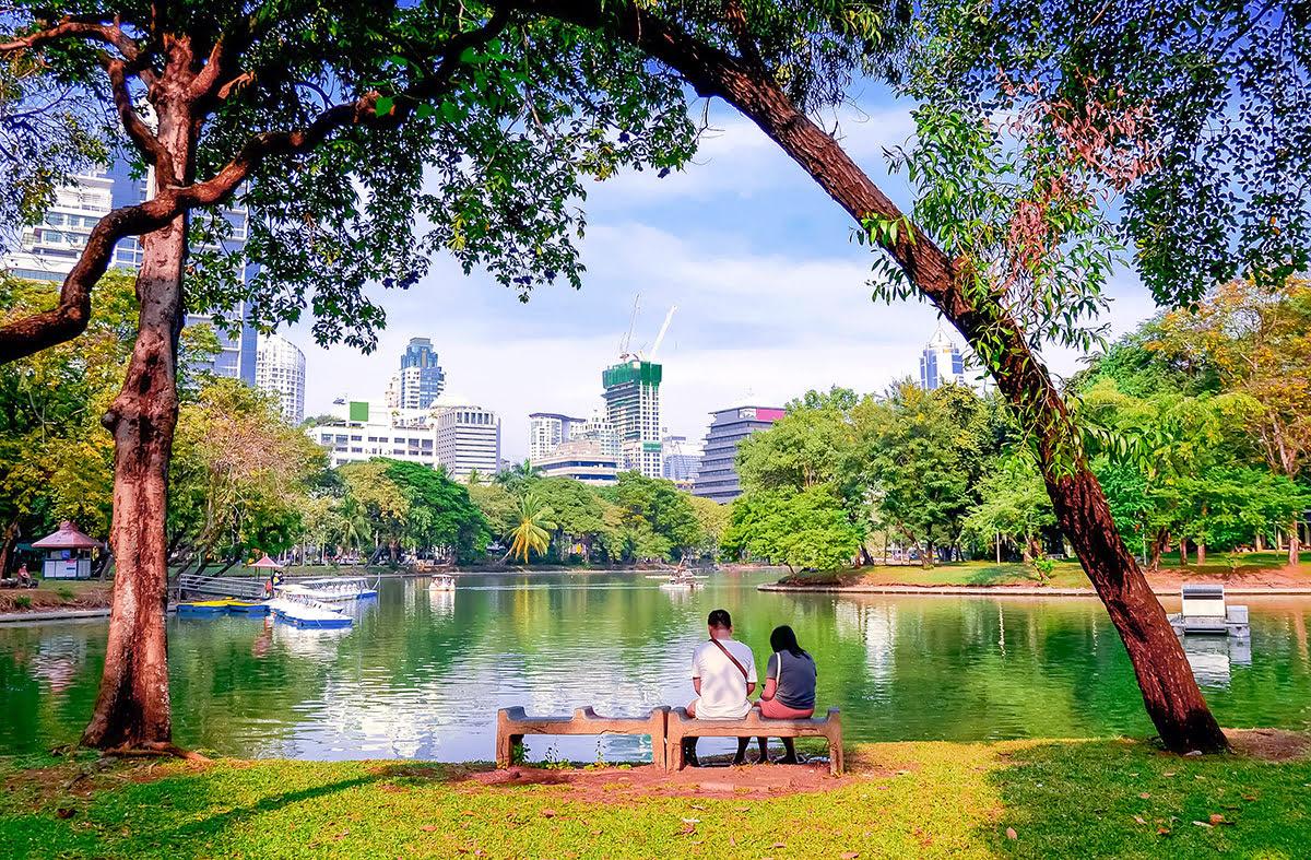 Du lịch Băng Cốc-Thái Lan-không gian xanh-công viên