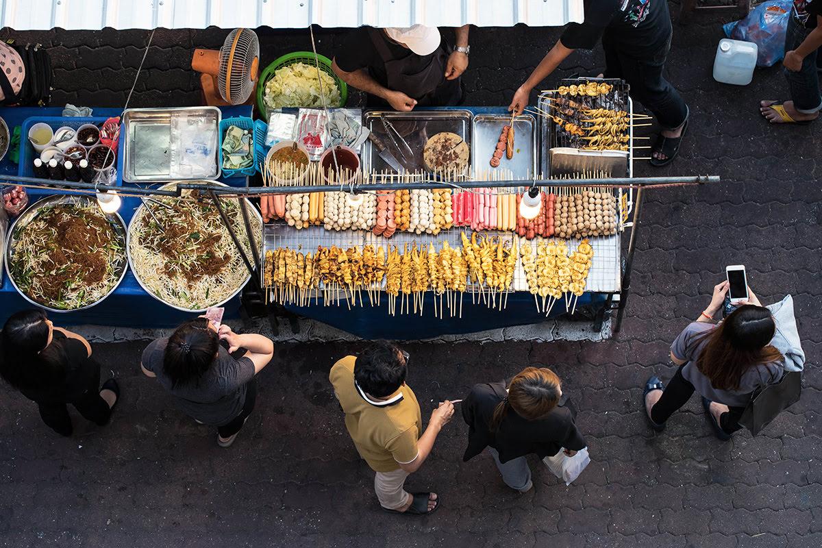 Bangkok food-Street food stall