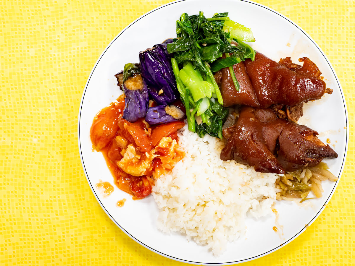 Taichung food-Taiwanese cuisine-what to eat-Braised Pork Knuckle Rice