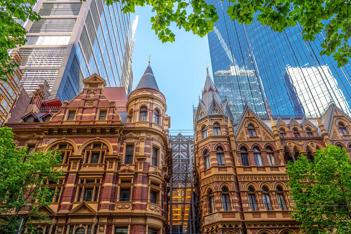 Shopping in Melbourne-Australia-Heritage Buildings-Collins Street