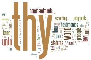 enjoying the many positive functions of the law as the word of God (Psalm 119)