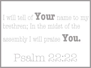 in the meetings the Firstborn Son sings praises to the Father in our praises!