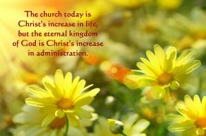 Christ Needs to Increase in Us to Fill All in All Until He Fills the Whole Earth