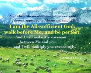 The God of Abraham is the God of All-Sufficiency and the God with His Human Friendship
