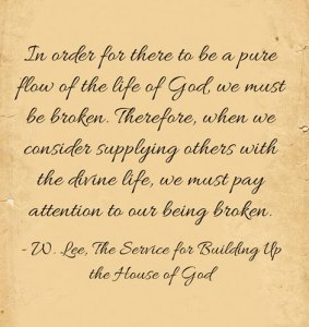 We need to Experience the Breaking of the Outer Man for the Release of God's Life
