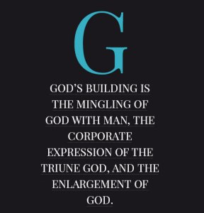 God's Goal is His Building; God's Building is God's Thought and Purpose in Exodus