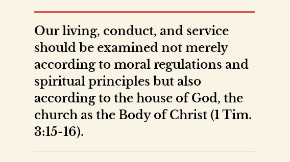 Allowing God To Measure Us According To The Church, His House