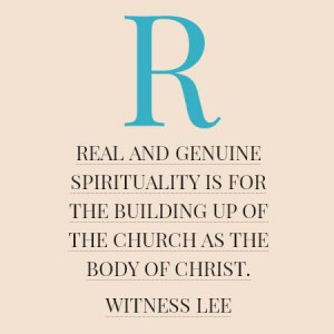 God's Building is the Test of our Spirituality; Real Spirituality is for the Body