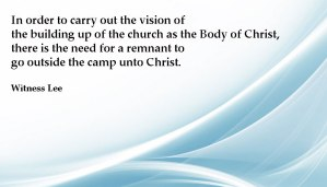 Building up the Body of Christ by Going Outside the Camp and Entering Within the Veil