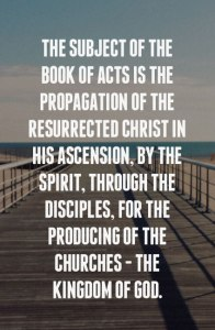 In His Ascension Christ Propagates Himself through His Believers to Produce the Churches