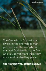 God Redeemed us to make us God in Life and Nature so that He can have the Body of Christ