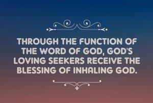 Enjoying the Blessing of Inhaling God: we Breathe Him through Pray-Reading the Word