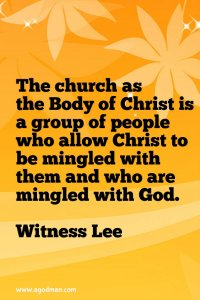 The Body of Christ is the Enlargement of Christ, the Mingling of God with man