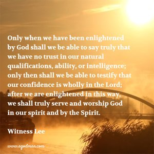 We Worship and Serve God in spirit and by the Spirit with No Confidence in the Flesh