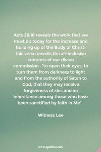 Praying over, Experiencing, and Carrying out our Divine Commission (Acts 26:18)