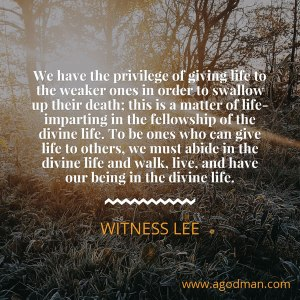 Being One with the Lord to Minister Life to others by our Life-giving Petition