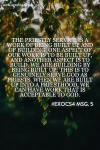 We need to be Built up to be God's Dwelling Place to Serve Him as the Priesthood
