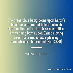 The Breastplate is Central Point of the Priesthood: God's Leading is in the Church