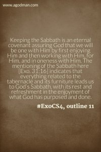 Taking the Lord as our Real Sabbath Rest and Laboring with Him as our Strength