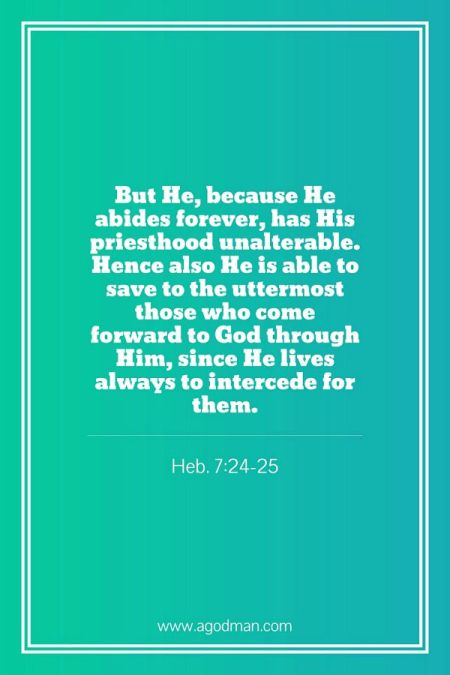 christ in his heavenly ministry is the divine high priest saving us