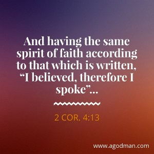 Exercising our Spirit of Faith, our Sixth Sense, to be Assured of the Things of God