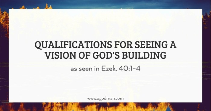 Qualifications for Seeing a Vision of God's Building (as seen in Ezek. 40:1-4)