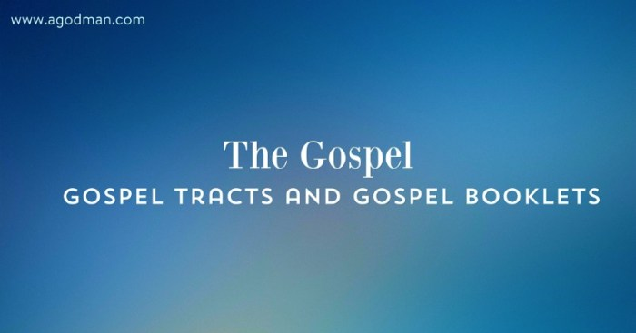 The Gospel - gospel tracts and gospel booklets, links and free resources