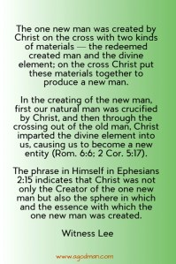 God Intends to have the Church as the One New Man to Express Him and Represent Him