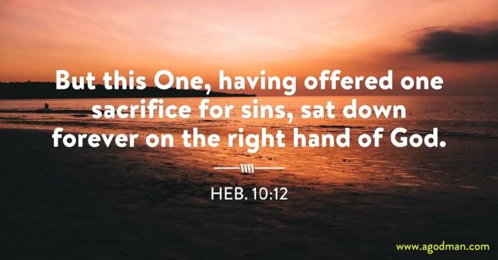 Resultado de imagem para hebrews 10:12